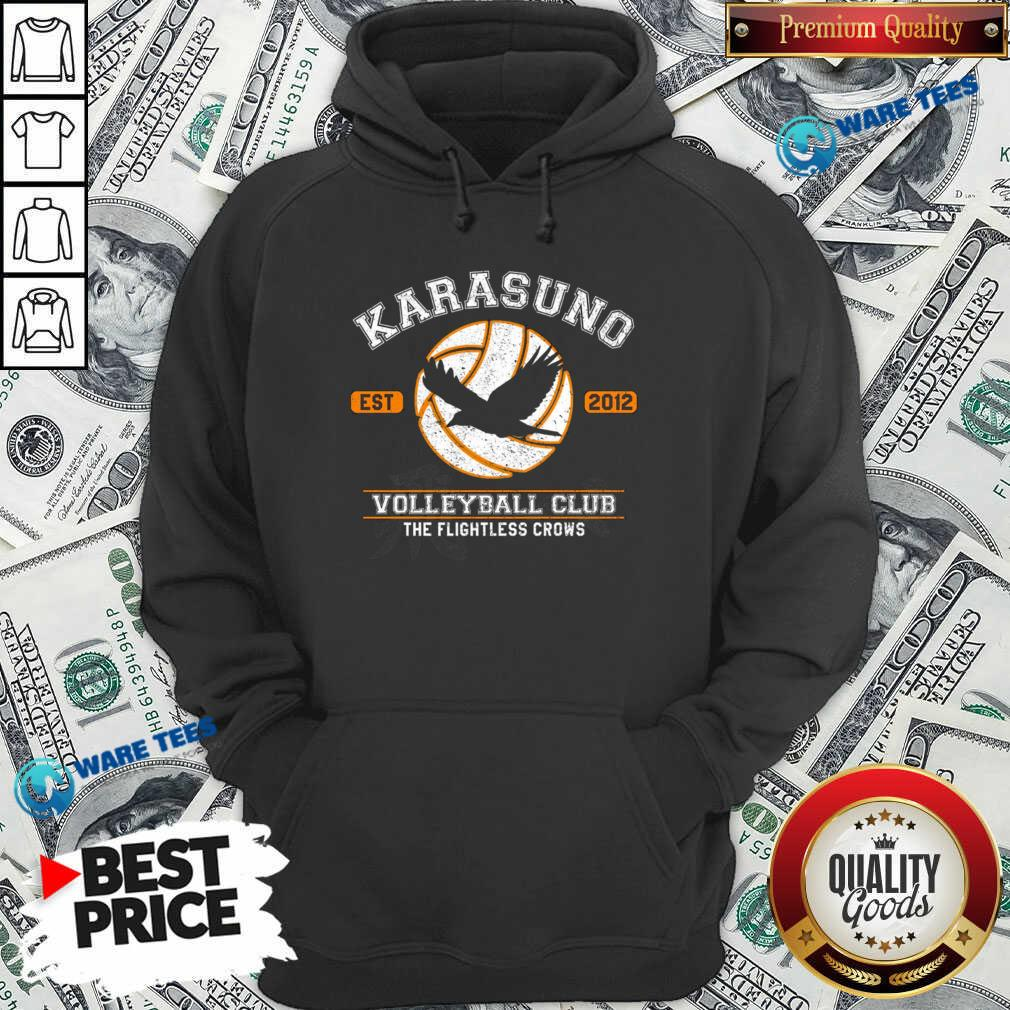 Karasuno Est 2010 Volleyball Club The Flightless Crows Hoodie- Design by Waretees.com