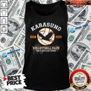 Karasuno Est 2010 Volleyball Club The Flightless Crows Tank-Top- Design by Waretees.com