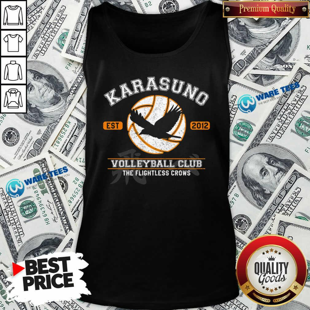 Karasuno Est 2010 Volleyball Club The Flightless Crows Tank-Top- Design by Waretees.com