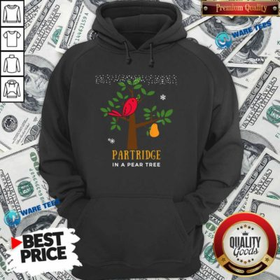 Good Red Bird Partridge In A Pear Tree Hoodie - Design by Waretees.com