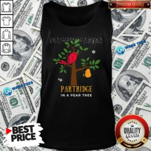 Good Red Bird Partridge In A Pear Tree Tank Top - Design by Waretees.com