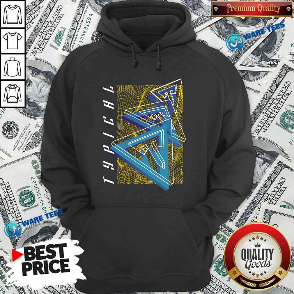 Typical Gamer Merch Oscillation Hoodie- Design By Waretees.com
