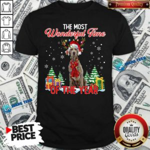 Good Weimaraner The Most Wonderful Time Of The Year Ugly Christmas Shirt - Design by Waretees.com
