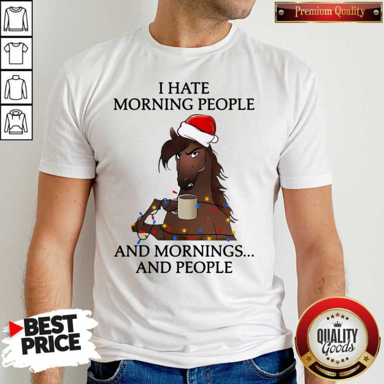 I Hate Morning People And Morning And People Shirt - Design By Waretees.com