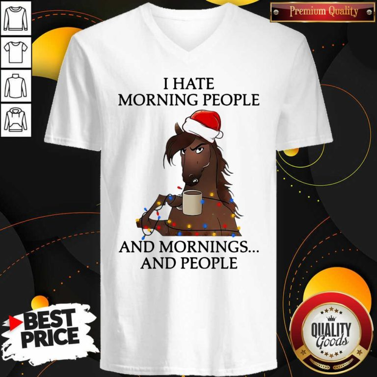I Hate Morning People And Morning And People V-neck - Design By Waretees.com