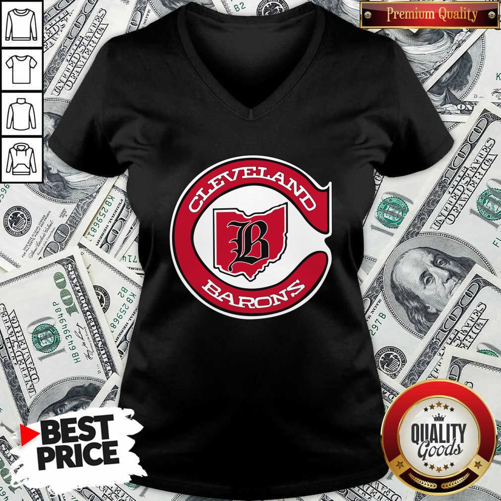 Cleveland Barons Hockey V-neck - Design By Waretees.com
