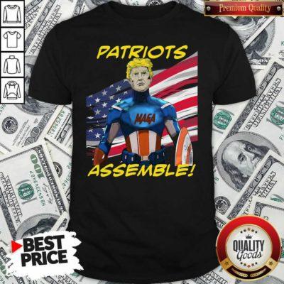Patriots Assemble Donald Trump Maga American Flag Shirt - Design By Waretees.com