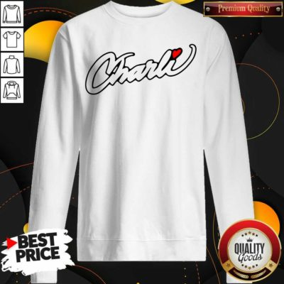 Hot Fake Charli Merch Charli Script Sweatshirt - Design by Waretees.com