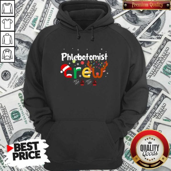 Hot Phlebotomist Crew Merry Christmas Hoodie - Design by Waretees.com