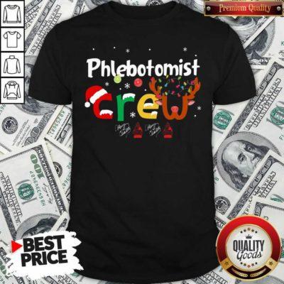 Hot Phlebotomist Crew Merry Christmas Shirt - Design by Waretees.com