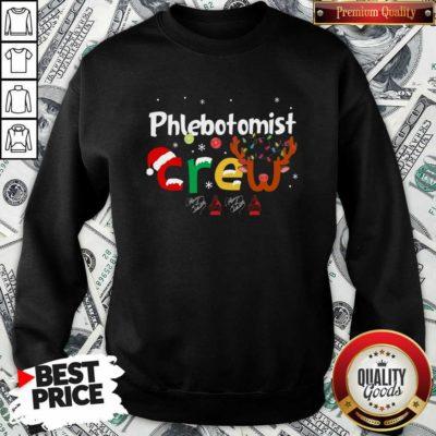 Hot Phlebotomist Crew Merry Christmas Sweatshirt - Design by Waretees.com