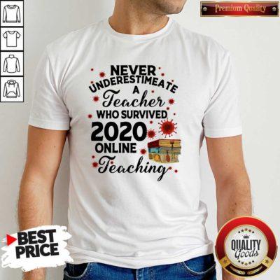 Never Underestimate A Teacher Who Survived 2020 Online Teaching Shirt - Design by Waretees.com