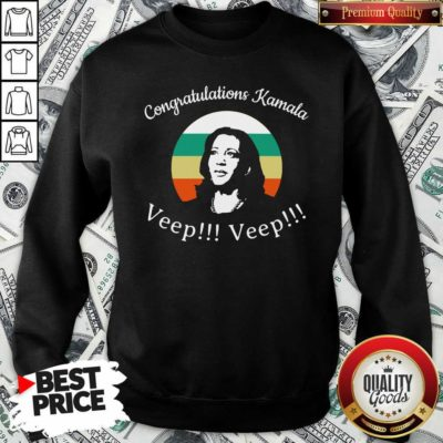 Congratulations Kamala Biden Veep My Vp Looks Like Me Vintage Sweatshirt - Design By Waretees.com