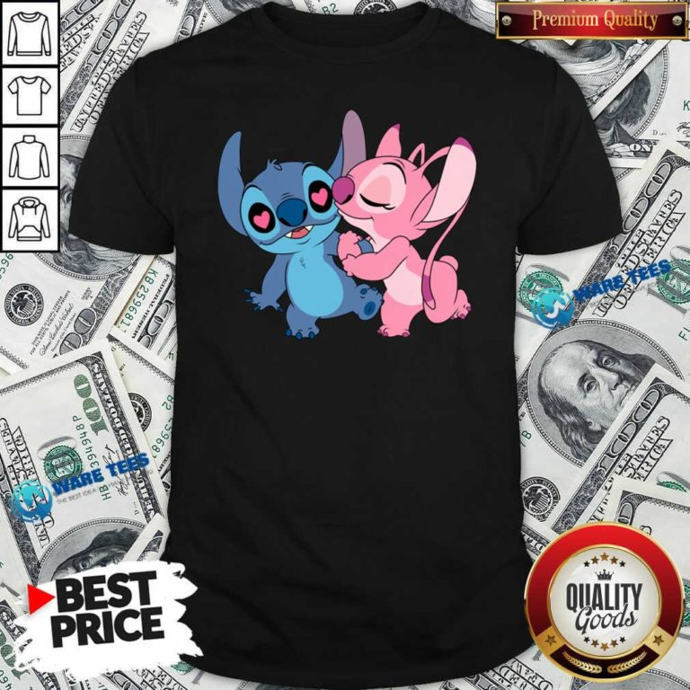 Couple Stitch Angel Love Shirt- Design by Waretees.com
