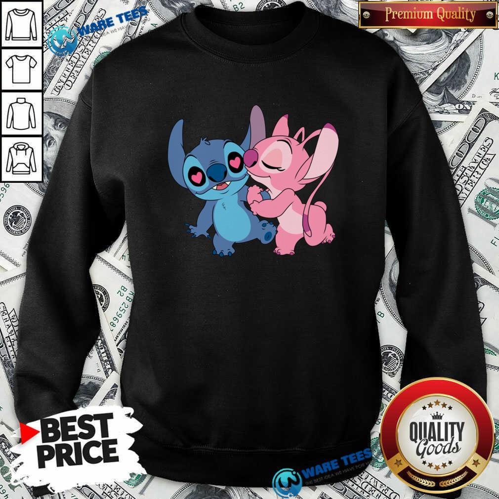 Couple Stitch Angel Love Sweatshirt- Design by Waretees.com
