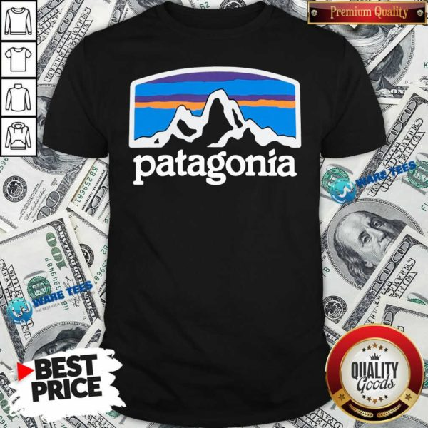 Fitz Roy Horizons Responsibili Patagonia Shirt- Design by Waretees.com