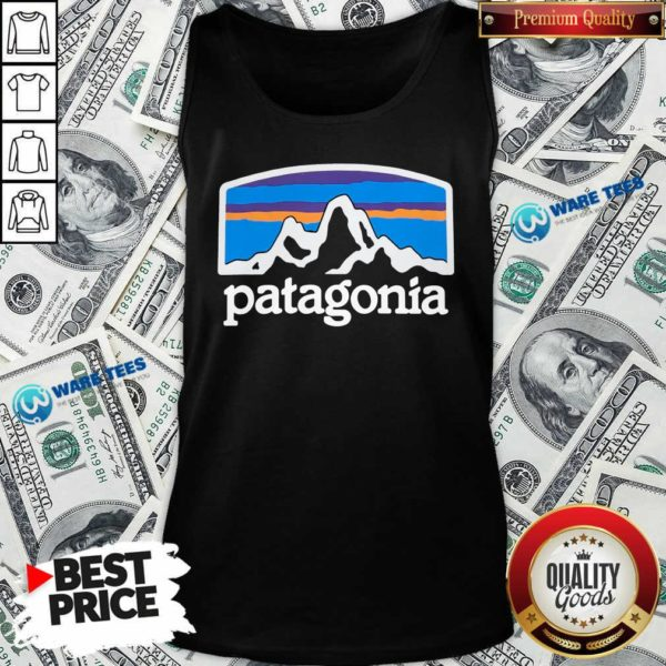 Fitz Roy Horizons Responsibili Patagonia Tank-Top- Design by Waretees.com
