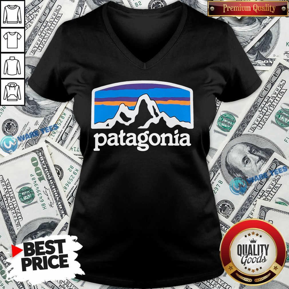 Fitz Roy Horizons Responsibili Patagonia V-neck- Design by Waretees.com