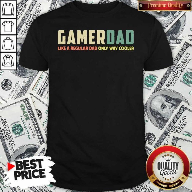 Gamer Dad Retro Like A Regular Dad Father's Day Shirt - Design By Waretee.com