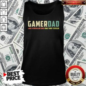 Gamer Dad Retro Like A Regular Dad Father's Day Tank Top - Design By Waretee.com