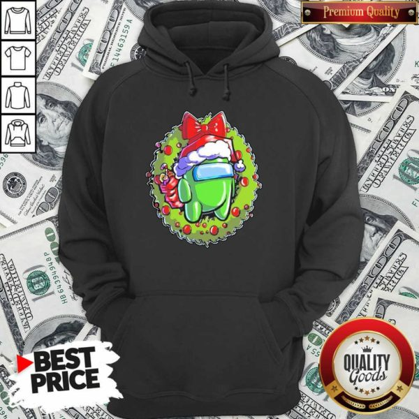 Green Among Us Hat Santa Happy Merry Christmas Hoodie - Design By Waretees.com