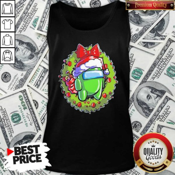 Green Among Us Hat Santa Happy Merry Christmas Tank Top - Design By Waretees.com