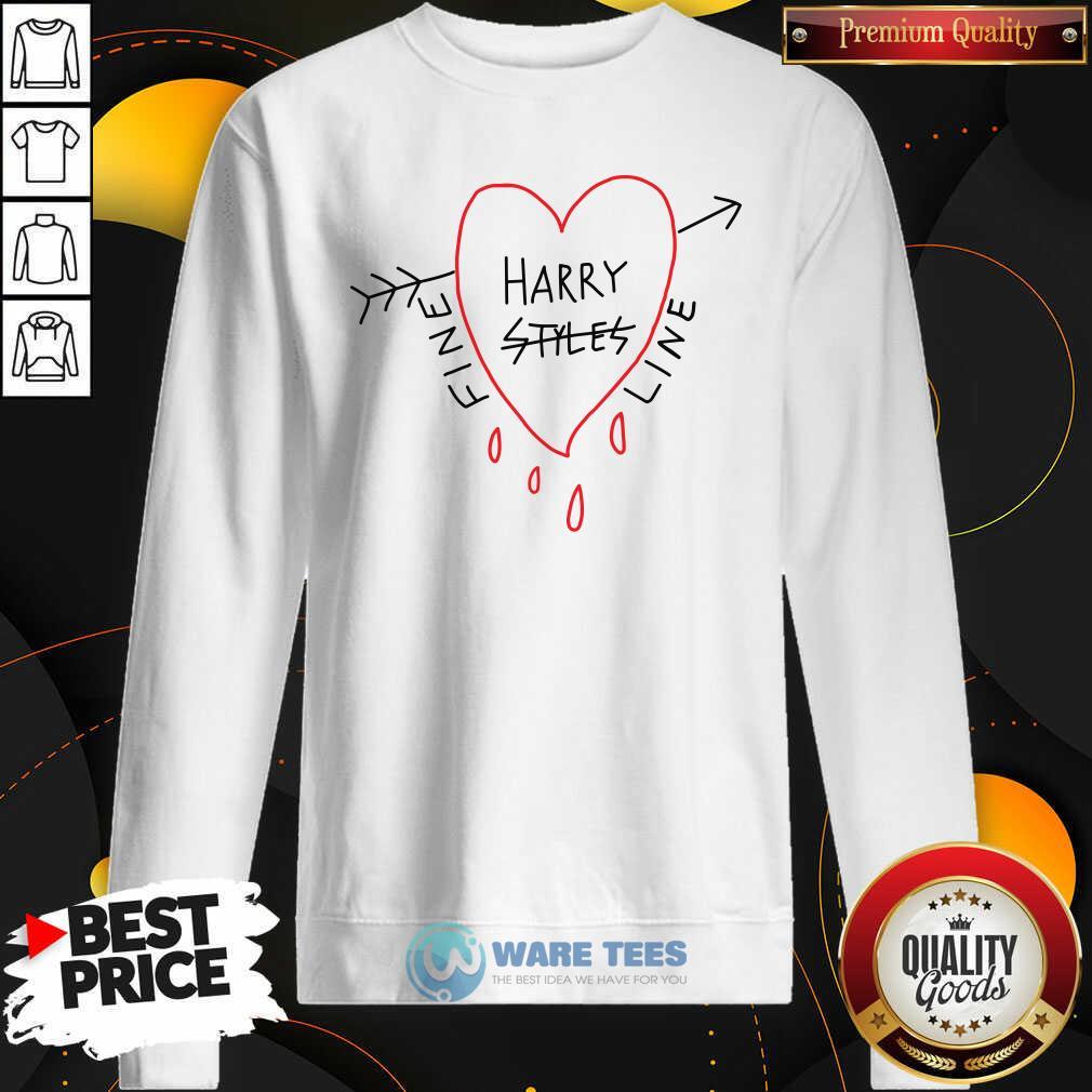 Harry Styles Fine Line Heart Sweatshirt- Design by Waretees.com