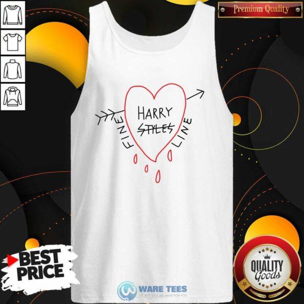 Harry Styles Fine Line Heart Tank-Top- Design by Waretees.com
