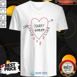 Harry Styles Fine Line Heart V-neck- Design by Waretees.com