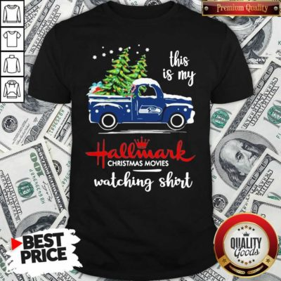 Seattle Seahawks This Is My Hallmark Christmas Movies Watching Shirt - Design By Waretees.com