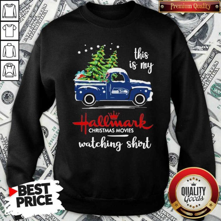 Seattle Seahawks This Is My Hallmark Christmas Movies Watching Sweatshirt - Design By Waretees.com