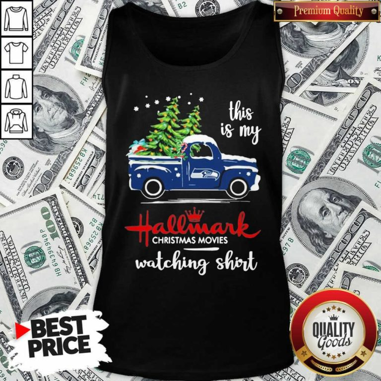 Seattle Seahawks This Is My Hallmark Christmas Movies Watching Tank Top - Design By Waretees.com