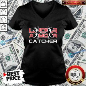 Nice Under Armour Catcher V-neck - Design by Waretees.com