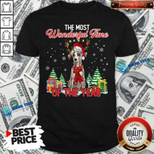 Nice Whippet The Most Wonderful Time Of The Year Ugly Christmas Shirt - Design by Waretees.com
