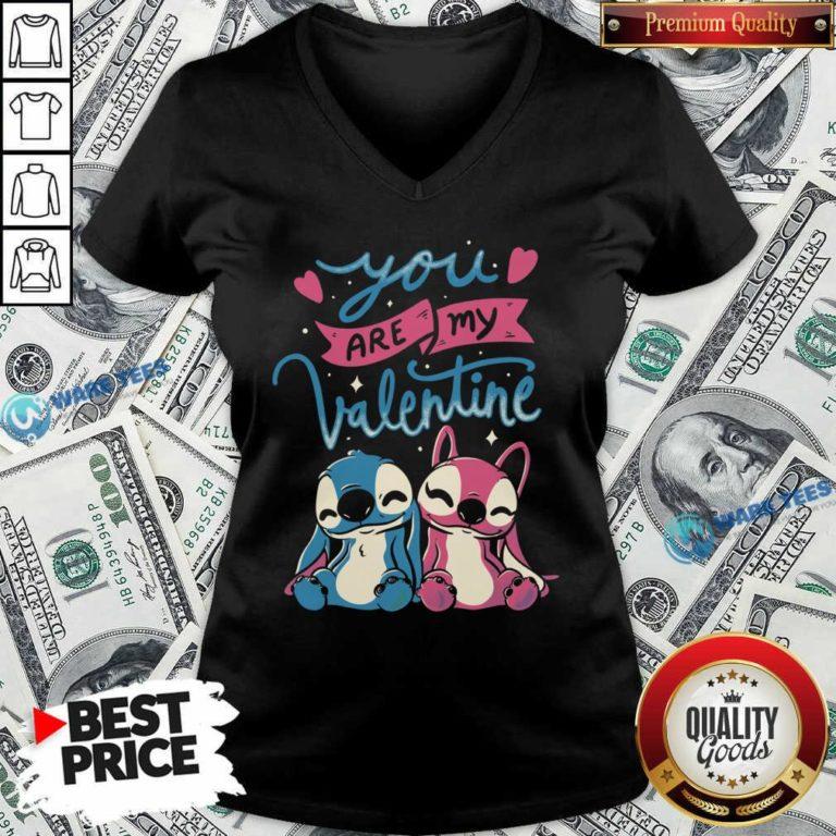 Baby Stitch You Are My Valentine V-neck- Design By Waretees.com