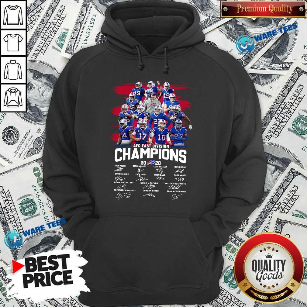 Buffalo Bills AFC East Division Champions Signatures Hoodie- Design by Waretees.com