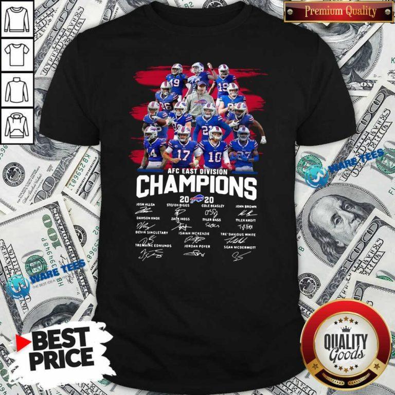Buffalo Bills AFC East Division Champions Signatures Shirt- Design by Waretees.com