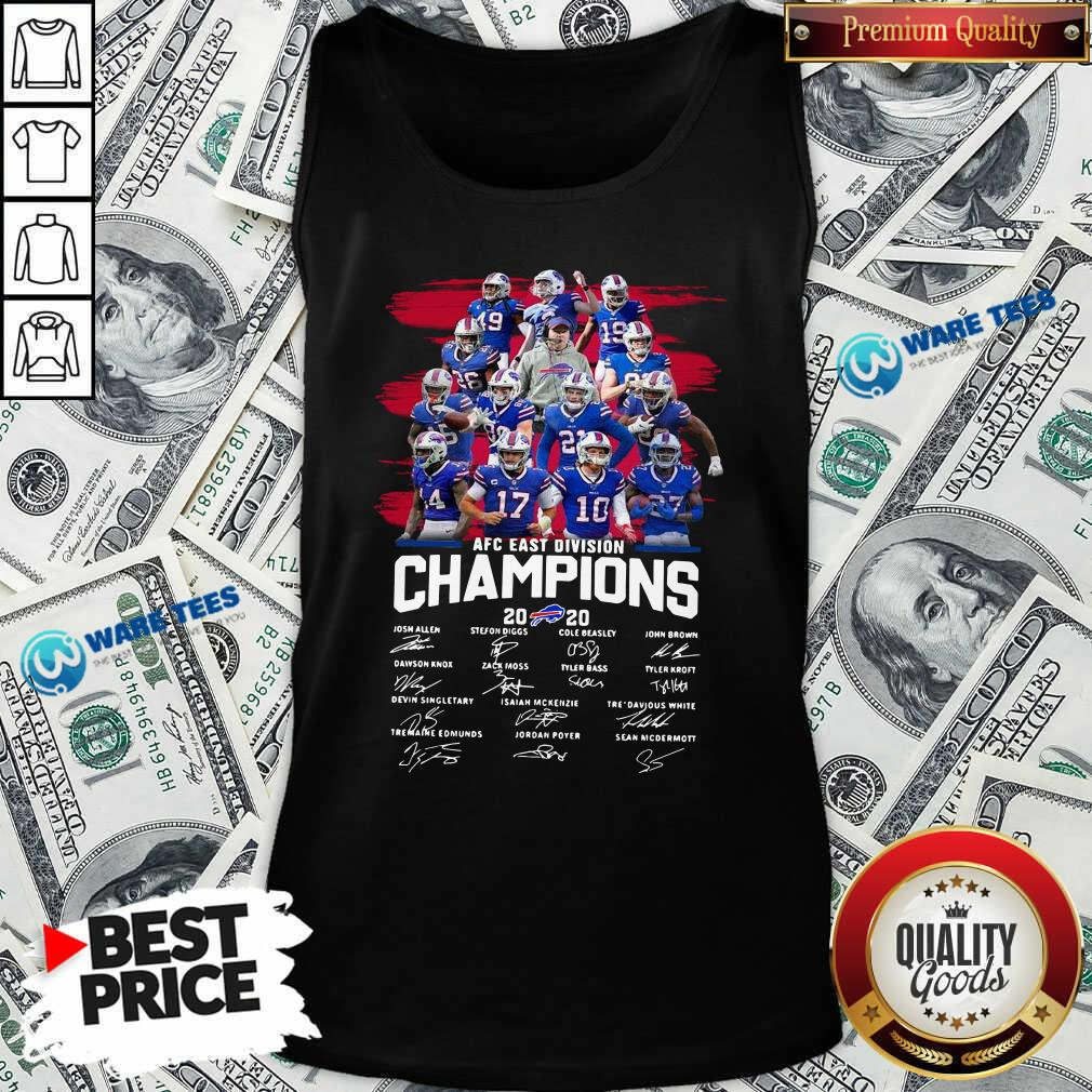 Buffalo Bills AFC East Division Champions Signatures Tank-Top- Design by Waretees.com