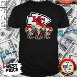 Official Cute Kansas City Chiefs Elephant Christmas Shirt - Design by Waretees.com