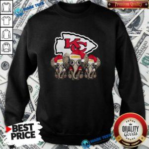 Official Cute Kansas City Chiefs Elephant Christmas Sweatshirt - Design by Waretees.com