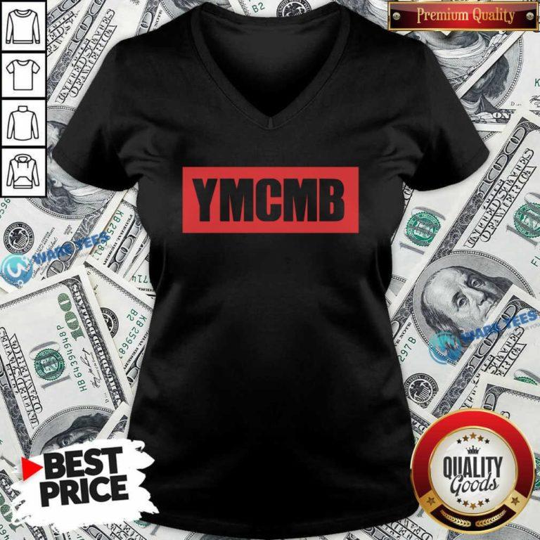 Drake Ymcmb Shirt Red Box Logo Ymcmb V-neck- Design by Waretees.com