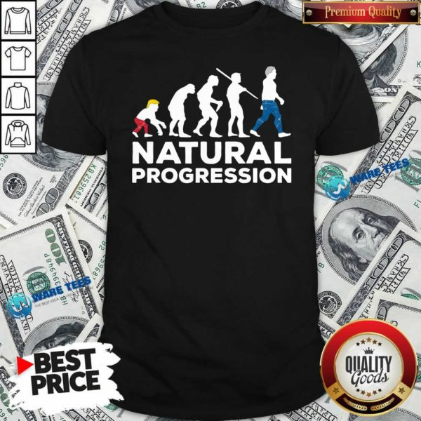Official Evolution Anti Trump Natural Progression 2020 Shirt - Design by Waretees.com