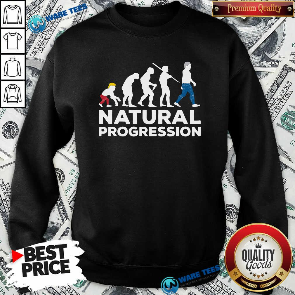 Official Evolution Anti Trump Natural Progression 2020 Sweatshirt - Design by Waretees.com