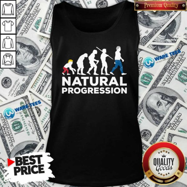 Official Evolution Anti Trump Natural Progression 2020 Tank Top - Design by Waretees.com