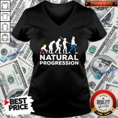 Official Evolution Anti Trump Natural Progression 2020 V-neck - Design by Waretees.com