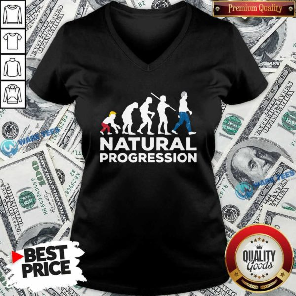 Official Evolution Anti Trump Natural Progression 2020 V-neck - Design by Waretees.com