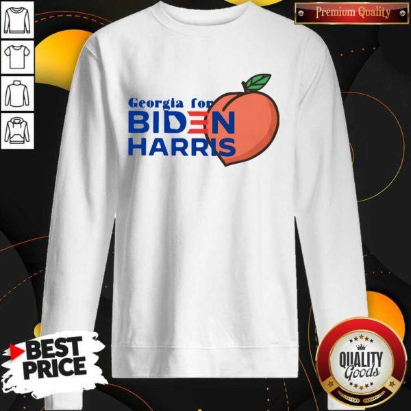 Official Georgia For Biden Harris Peach Sweatshirt - Design by Waretees.com