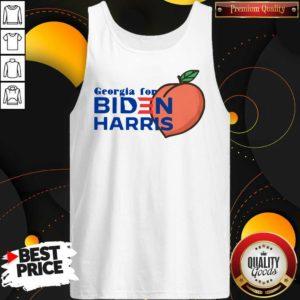 Official Georgia For Biden Harris Peach Tank Top - Design by Waretees.com