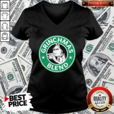 Grinchmas Drink Coffee Blend V-neck - Design By Waretees.com