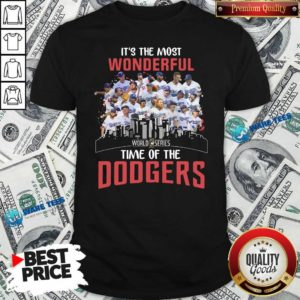 It's The Most Wonderful World Series 2020 Time Of Dodgers Signatures Shirt- Design by Waretees.com